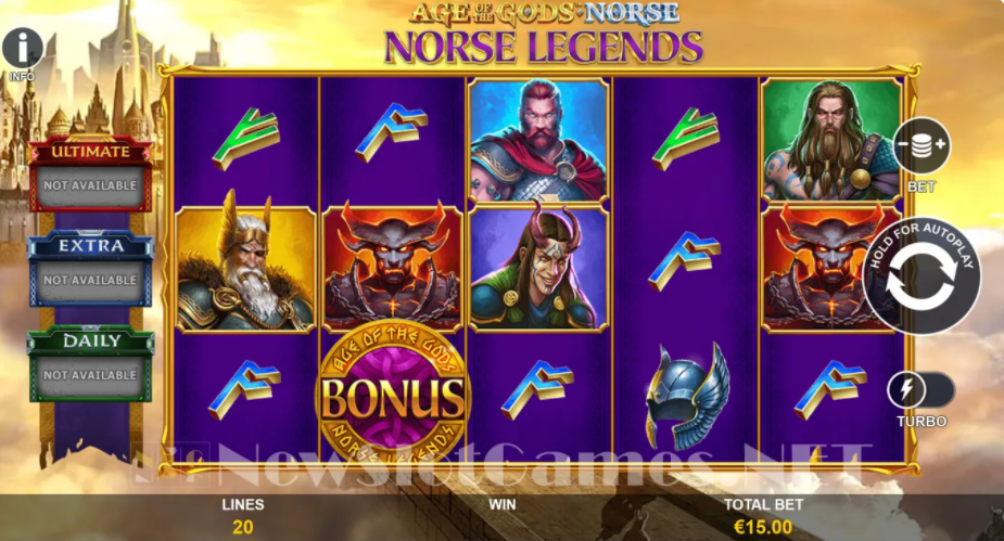 Be Thunderstruck with Prizes and Jackpots in 12Emerald's Age of the Gods Norse Legends